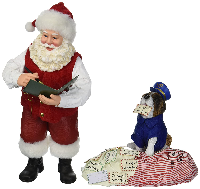 Department 56 Possible Dreams Santa Claus Postal Inspector Clothtique Figurine, 10