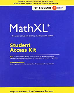 Amazon mathxl 12 month student access kit 9780201726114 mathxl standalone access card 6 month access fandeluxe Choice Image