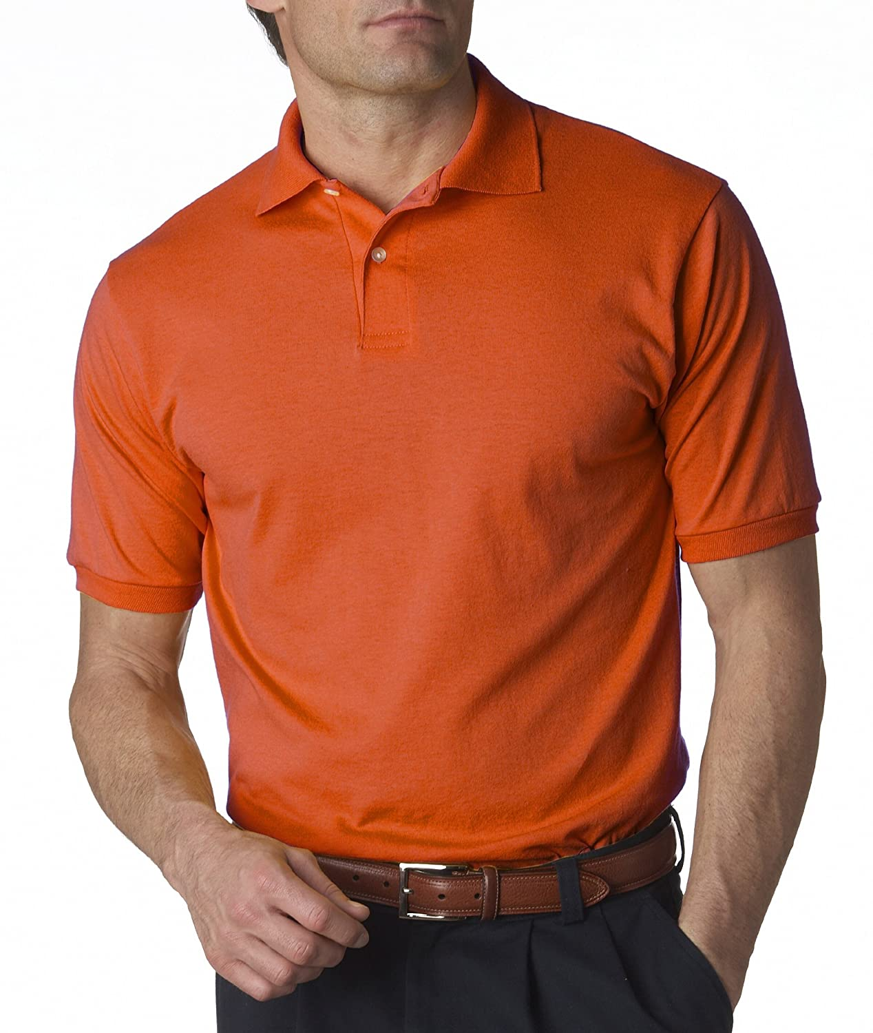 Jerzees 50//50 Mens 5.6 oz Jersey Polo with SpotShield