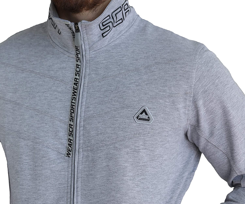 SCR SPORTSWEAR Mens Full Zip Up Lightweight Softshell Bomber Jacket with Zipper Pockets Tall Men Black Grey Casual