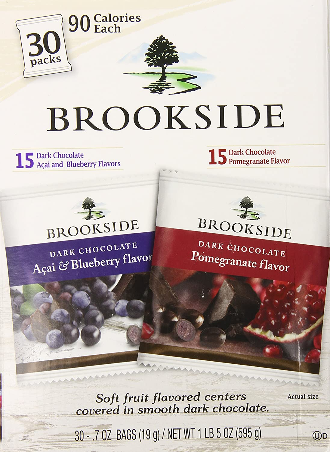 Amazon.com : Brookside Dark Chocolate Covered Fruit Two Flavor ...