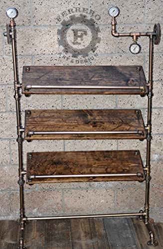 Steampunk office decor Wallpaper Image Unavailable Naperomuclub Amazoncom Steampunk Display Shelf Industrial Display Shelf Store