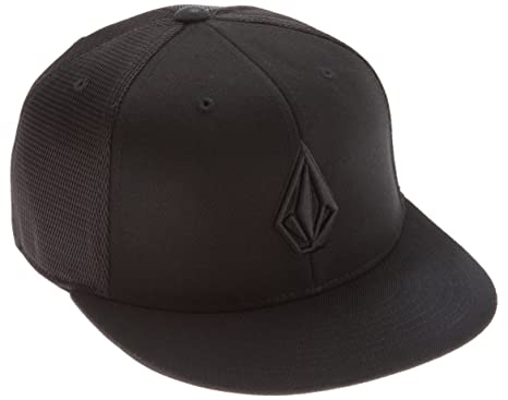 6af214e5de7 Volcom Men s 2Stone 210 Fitted Hat - Black -  Amazon.co.uk  Clothing
