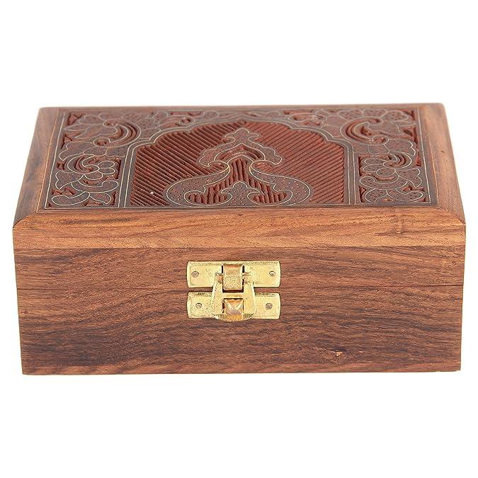 6274a061adf9 Joyero hecho a mano  en madera tallada  un regalo excepcional para  mujeres.  ShalinCraft  Amazon.es  Joyería