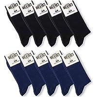 Mat & Vic's Calcetines Clásicos de Vestir para Hombre y Mujer, Algodón, Certificado Oeko-Tex…