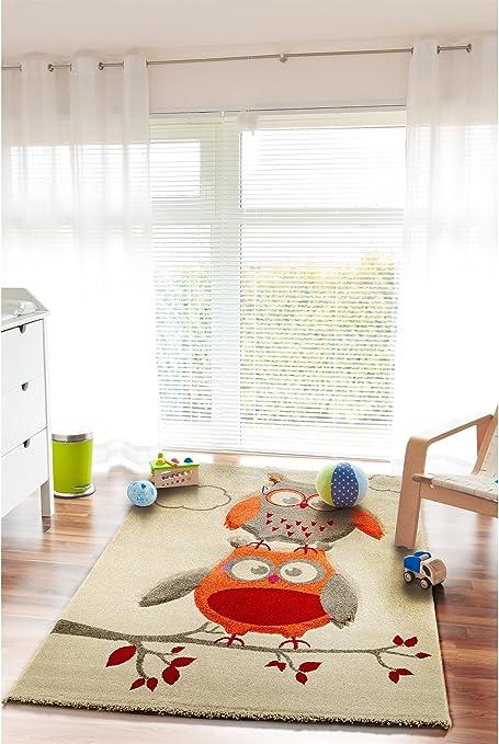 benuta Kinderteppich Eule und Wolken Grau 120x170 cm   Teppich für Spiel-  und Kinderzimmer