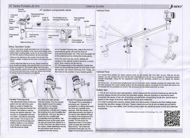 koolehaoda 102 inches//260CM Carbon Fiber Jib Arm Camera Crane,Load up to 8 kilograms//17.6 pounds