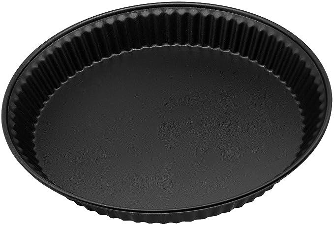 Zenker Forma Di/ámetro 30/cm de la Serie Pure cantidad: 1/Pieza Tarta para Quiche y Tarta de Frutas,/ Color: Negro /Molde para Tarta