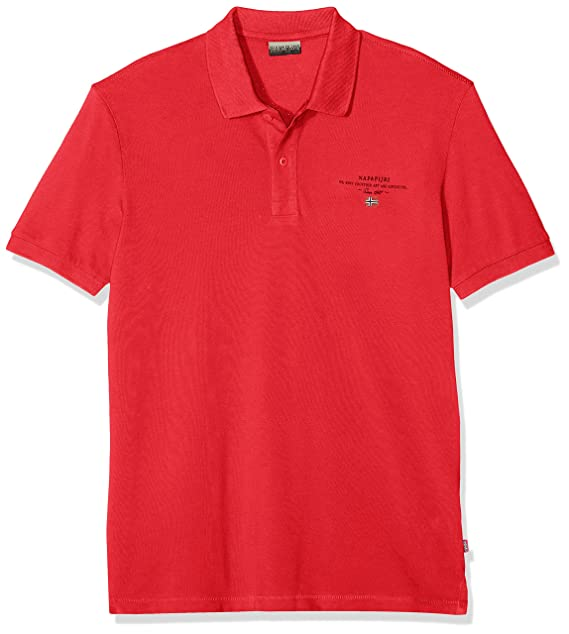Napapijri Elbas 2 Polo, Rojo (True Red R70), Large (Talla del ...