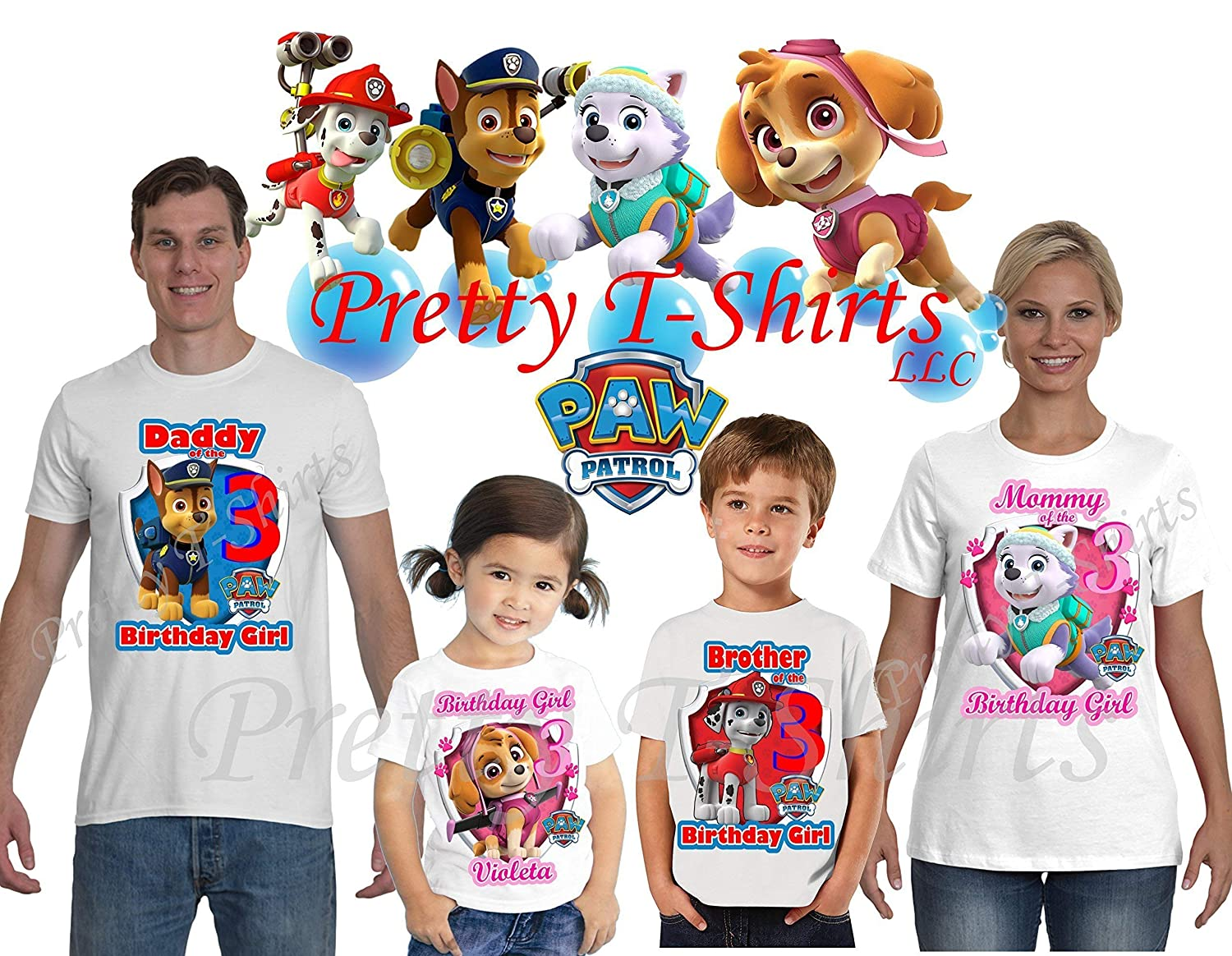 Birthday FAMILY Shirt Paw Patrol Birthday Boy Shirt Paw Patrol Party Favor Paw Patrol Birthday Shirt VISIT OUR SHOP!! Add ANY name and Age
