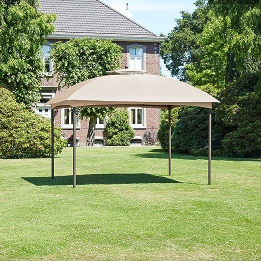 Carpa jardín pabellón Jardín Tienda marrón arena 300 x 300 cm ...