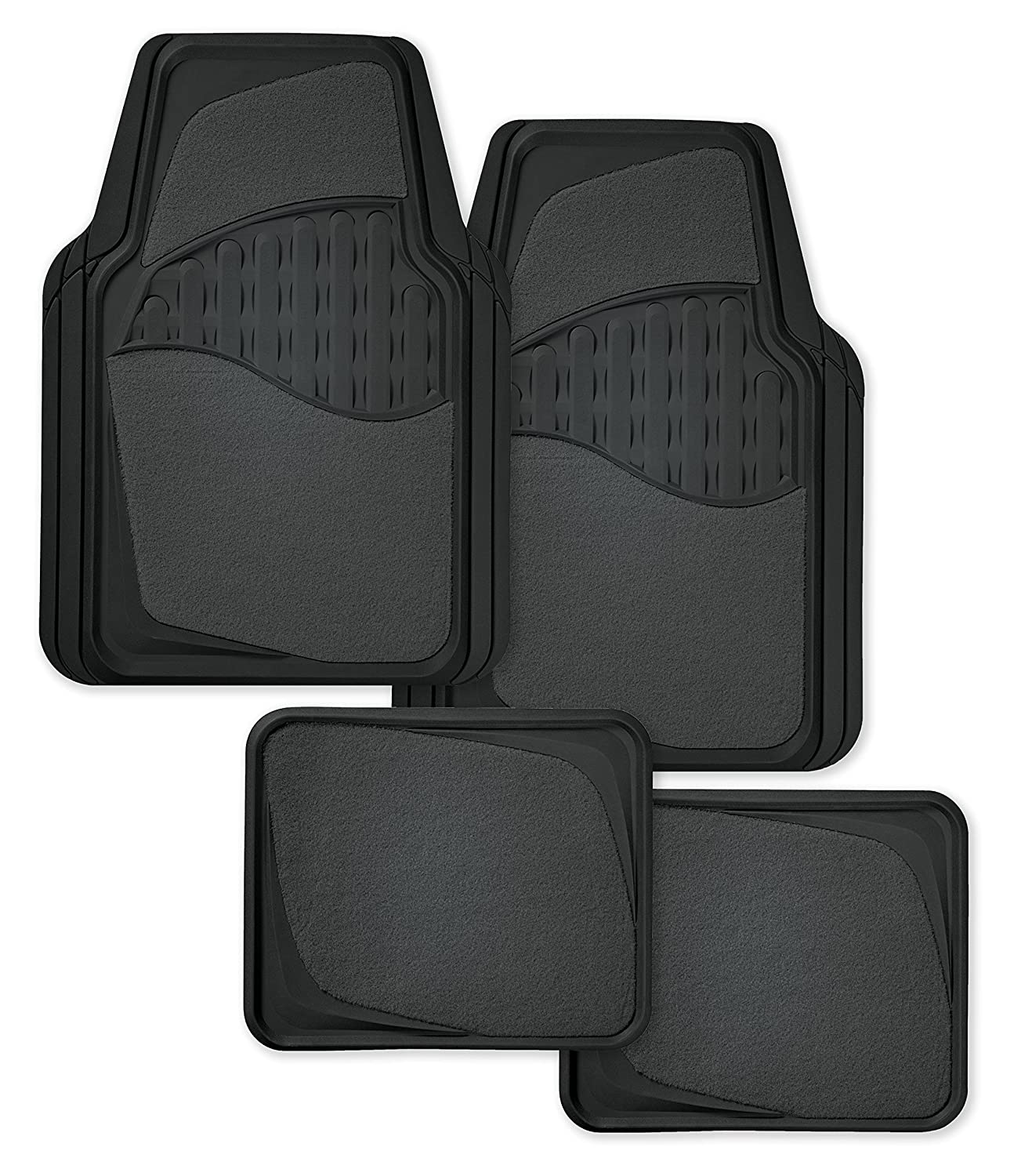 Kraco 4 Pc Grey Carpet Automotive Floor Mats Carpet