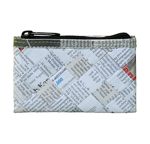 643de933b920 Amazon.com  Zip coin purse using upcycled newspaper - FREE SHIPPING ...