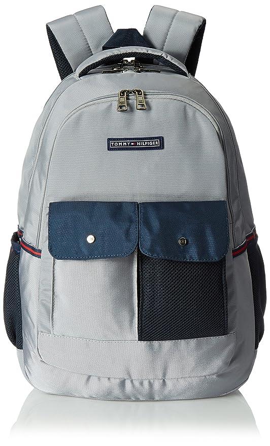 Tommy Hilfiger Tramp 22.08 Ltrs Grey Laptop Backpack (TH