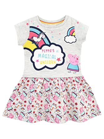 347e455f4a29 Amazon.com: Peppa Pig Girls' Unicorns & Rainbows Dress: Clothing