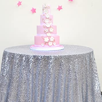 round silver sequin tablecloth select your size silver wedding tablecloth