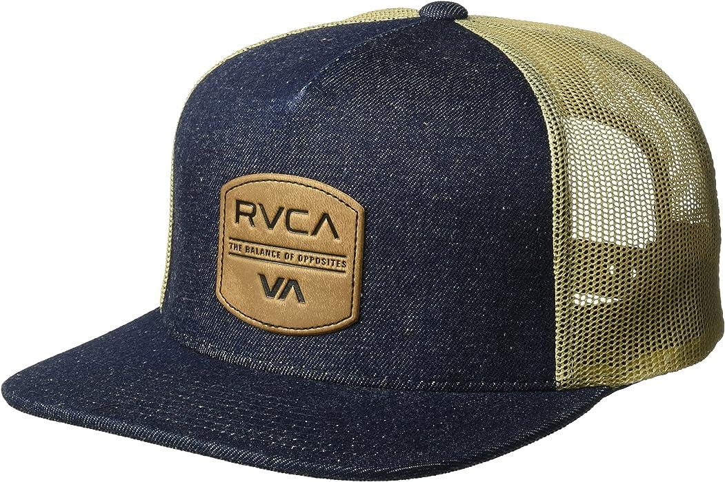 7f8181f65e454 Amazon.com  RVCA Men s Denim Trucker HAT