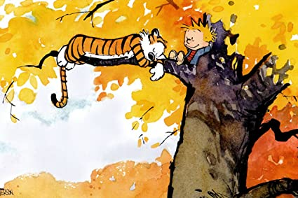 Amazon.com: DH2976 Calvin And Hobbes On The Tree 32x24 POSTER ...