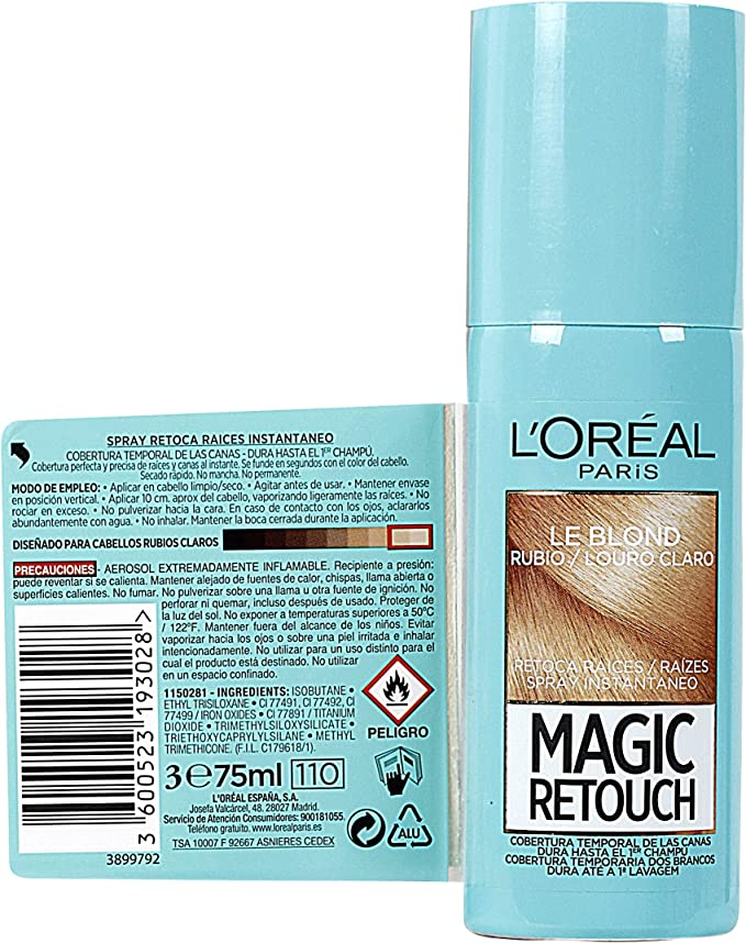 LOréal Paris Magic Retouch Spray Retoca Raíces Rubio 100 ml