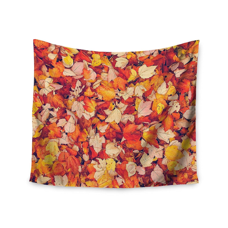 51 x 60 Kess InHouse Debbra Obertanec Scarlet Red Crimson Yellow Wall Tapestry