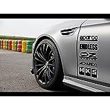 Racing Sponsors Sport Car Sticker Decal Black
