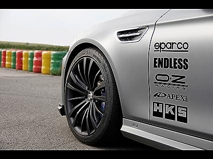 Amazon Com Racing Sponsors Sport Car Sticker Decal Black