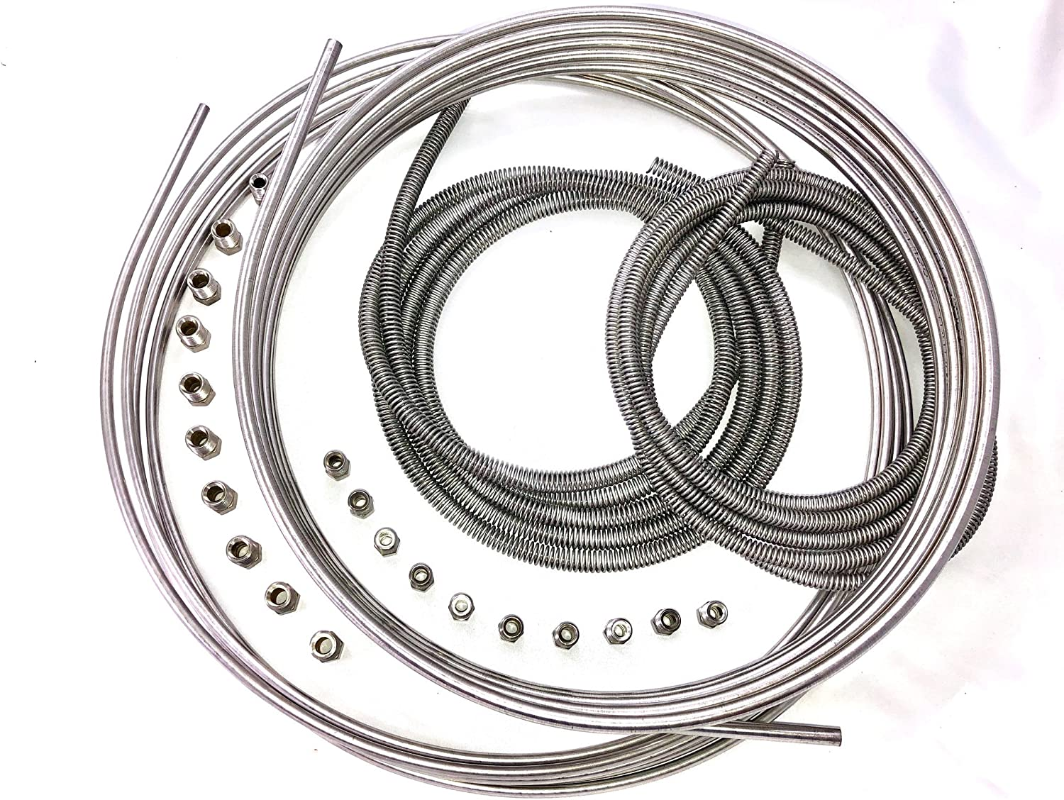 """5 PK BRAKE LINE STEEL TUBING COIL 3//16/"""" OD X 25 FT Roll X 5 MADE IN USA"""