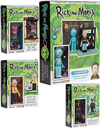 amazon power shwifty pack characters rick and morty figures