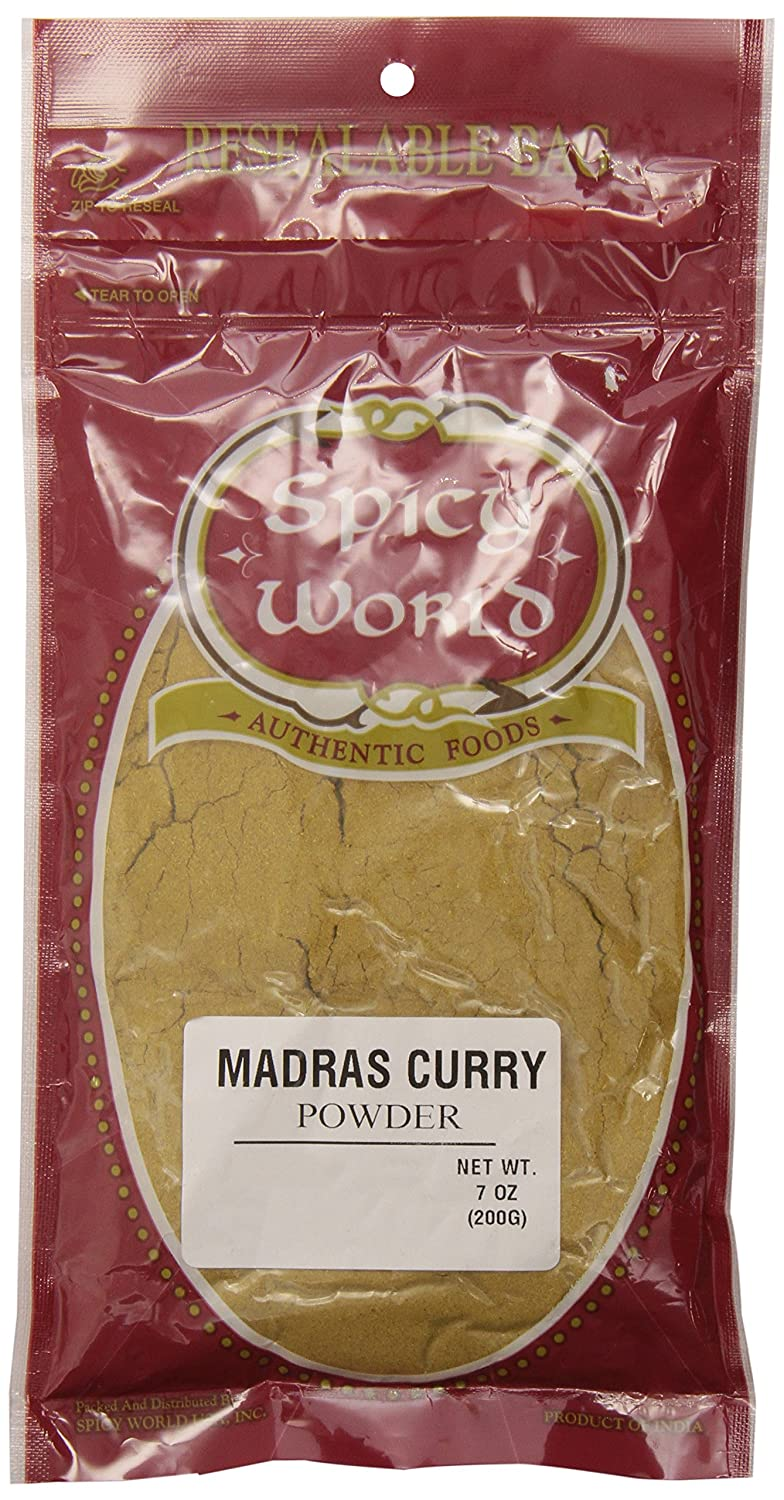 Spicy World Madras Curry Powder, 7 Ounce Pouch