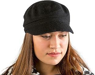 fa1ec2776569e AUGUST HAT COMPANY Women's Black Classic Lightweight Multi-Season Melton  Modboy Hat