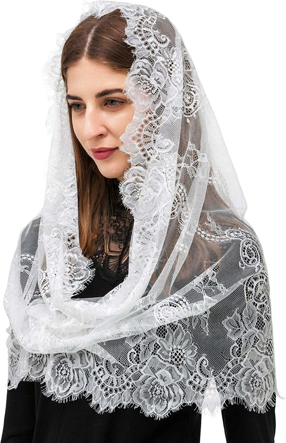 Spanish Style Lace Traditional Mantilla Veil