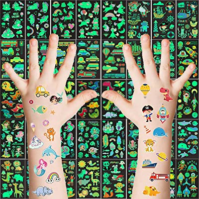 12PCS Unicorn Themed Waterproof Tattoo Stickers for Birthday Decorations Kids