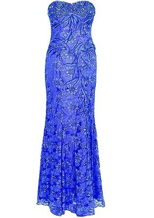KAJ Moden Womens Bustier Dress - Blue - UK 10.5