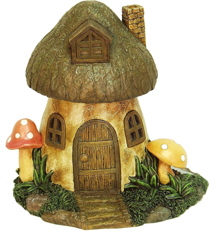 Echo Valley Solar Powered Decorative Fairy Light Mushroom Outdoor Garden Ornament Statue