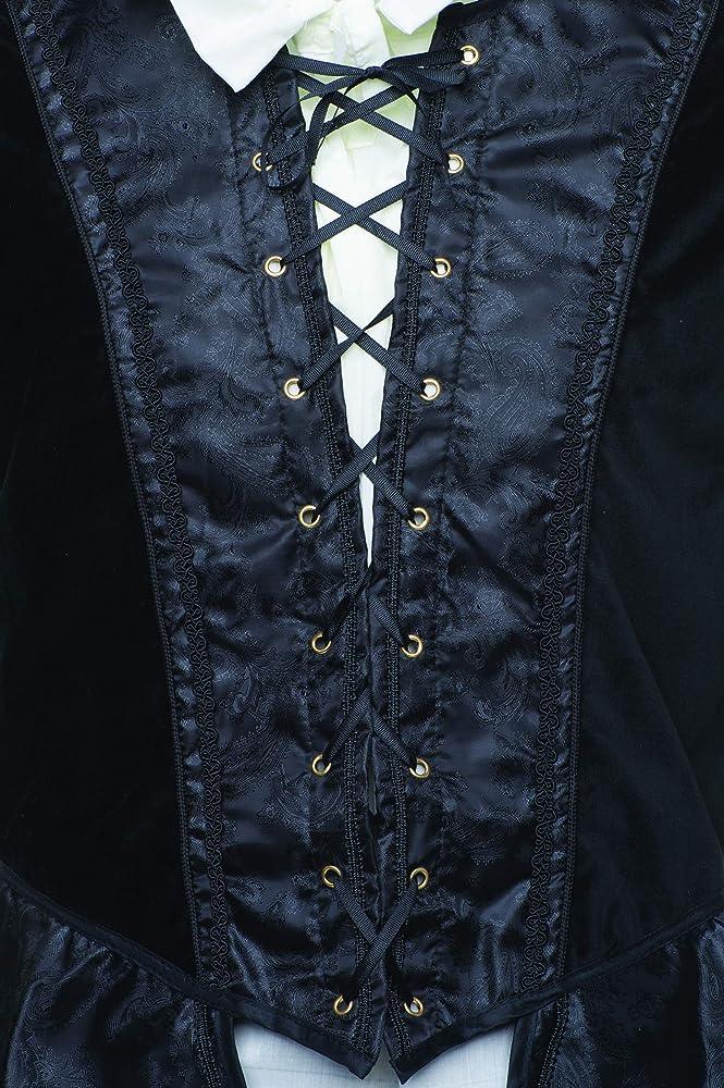 Men/'s Renaissance Doublet Costume Game of Thrones GOT Ren Faire Cosplay Black 4X