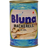 Bluna - Mackerel in Oil 425g (Pack of 4)