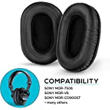 Brainwavz Earpads for Sony MDR 7506, V6, CD900ST Replacement Ear Pads with Memory Foam & Suitable for Other On Ear Headphones (Sheepskin Leather)