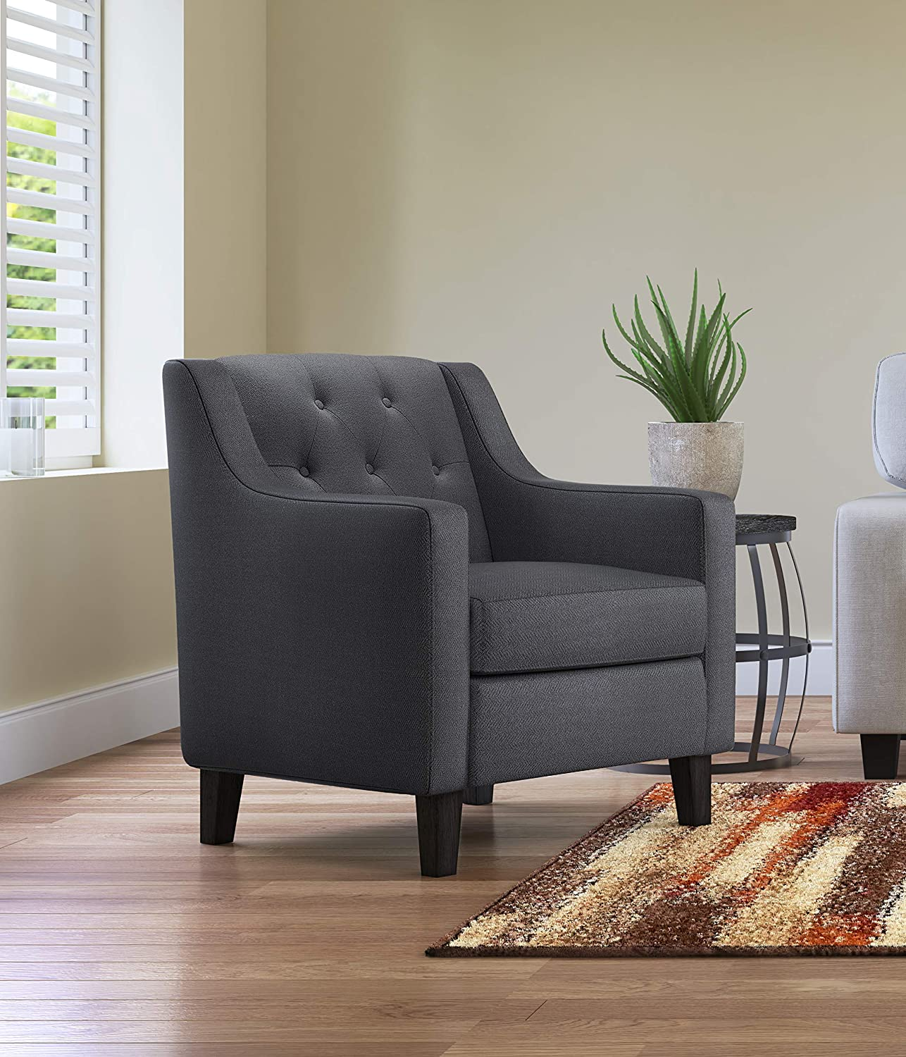 Serta Nina Accent Chair, Charcoal