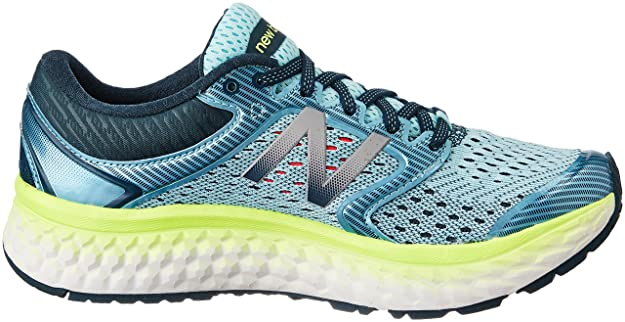 Amazon.com | New Balance Womens Fresh Foam 1080v7 Running Shoe Ozone Blue Lime Glow, 7 D US | Road Running