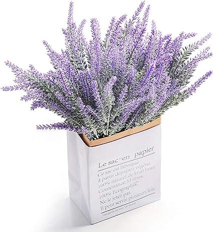4 Bunch artificielle Bouquet de lavande Faux Fleur Plastique Maison Mariage Fête Décoration