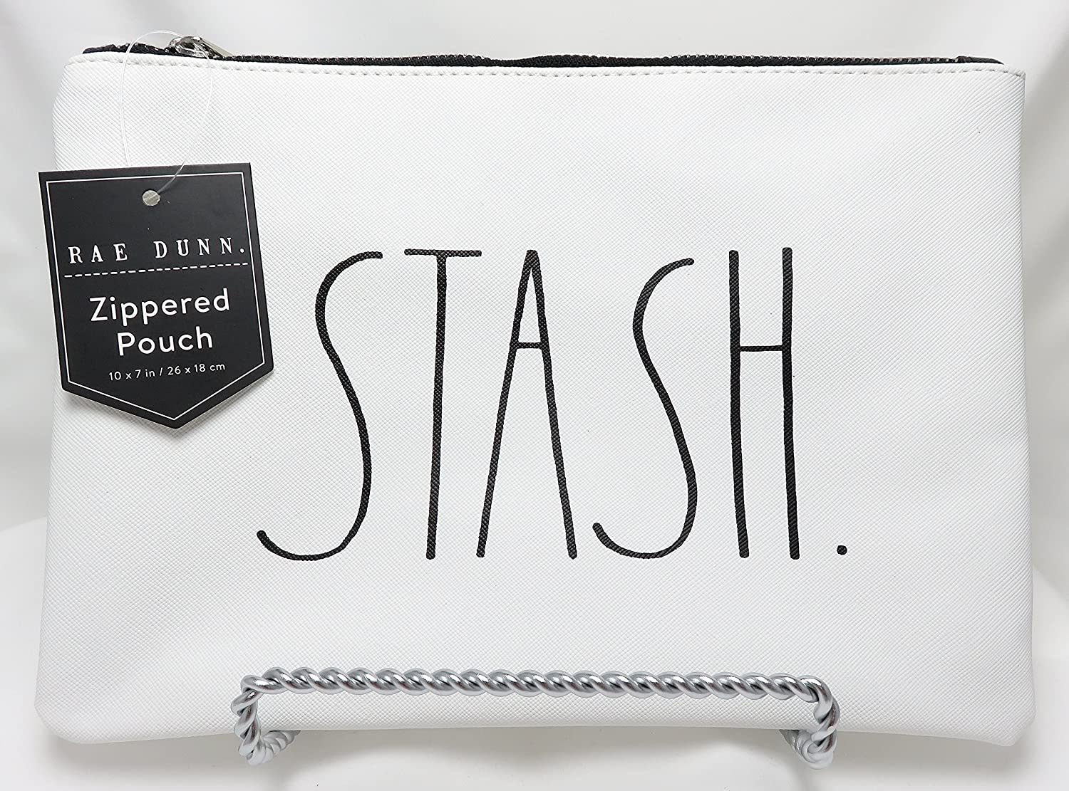 Rae Dunn By Magenta STASH. Large Letter LL 10 x 7 Zippered Pouch