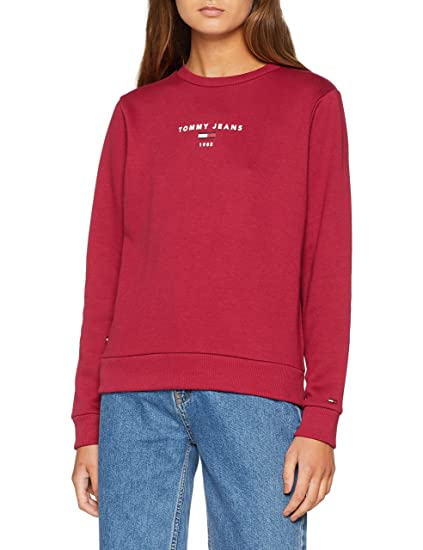 d80692cf0 Tommy Jeans Women s Crew Neck Sweatshirt  Amazon.co.uk  Clothing
