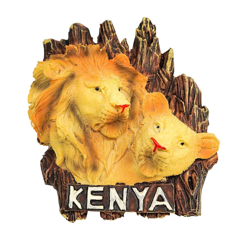 Kenya zamonji 3D R/ésine R/éfrig/érateur Aimants De Cuisine Home Decor Tourist Souvenir de Voyage Afrique Buffle