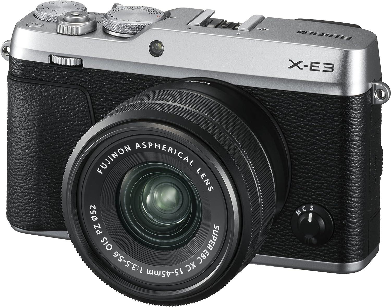 Fujifilm X-E3 - Cámara Evil de 24.3 MP y Kit Cuerpo con Objetivo Fujinon XC15-45 mm F3.5-5.6 OIS PZ, Color Plata