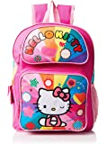 Hello Kitty Girl's Rainbow Hearts Backpack, Multi