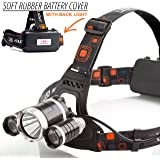 Waterproof Rechargeable LED Headlamp - Headlamp Flashlight great for Walking, Running, Camping and Outdoor Sports (Premium) (Premium)