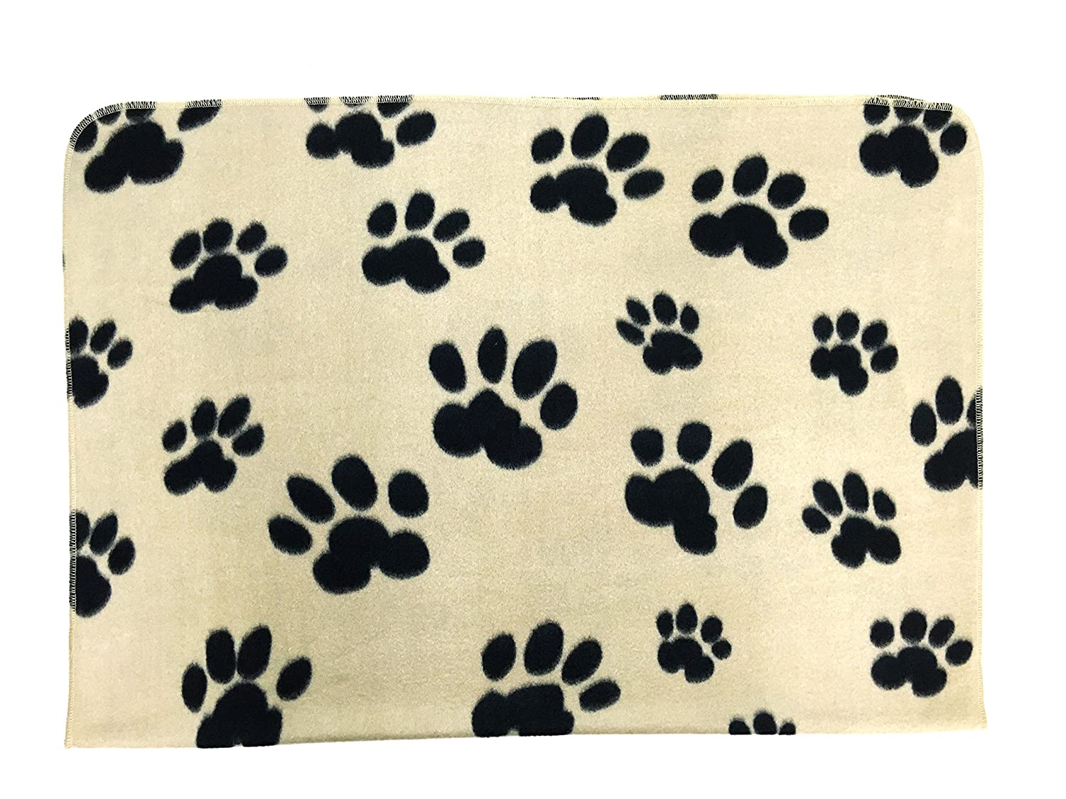 Twingo Pet Blanket, Brown Paw Print, Soft Fleece Fabric All Year Round Puppy Kitten Bed Warm Sleep Mat. 40 inch x28 inch Perfect for Small & Medium Size Pet
