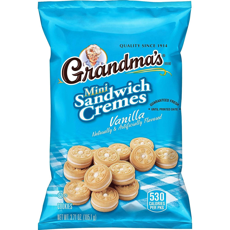 Grandma's Mini Cookies, Vanilla Crème, 3.71 Ounce (Pack of 24)