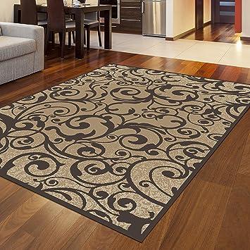 Amazon.com: Admire Home Living Plaza - Alfombra de área de ...