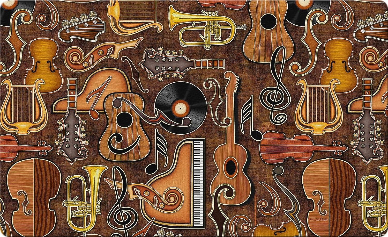 Toland Home Garden Joyful Noise 18 x 30 Inch Decorative Music Floor Mat Instrument Collage Doormat - 800193